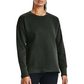 アンダーアーマー レディース パーカー・スウェット アウター Under Armour Women's Rival Fleece EMB Crew Sweatshirt Baroque Green