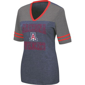 コロシアム レディース Tシャツ トップス Colosseum Women's Arizona Wildcats Navy Cuba Libre V-Neck T-Shirt