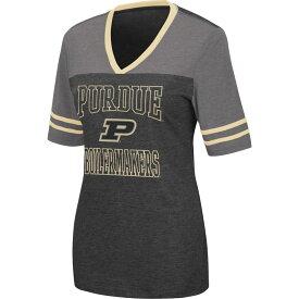 コロシアム レディース Tシャツ トップス Colosseum Women's Purdue Boilermakers Cuba Libre V-Neck Black T-Shirt