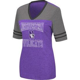 コロシアム レディース Tシャツ トップス Colosseum Women's Northwestern Wildcats Purple Cuba Libre V-Neck T-Shirt