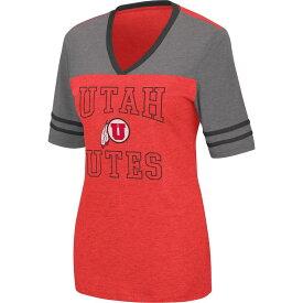 コロシアム レディース Tシャツ トップス Colosseum Women's Utah Utes Crimson Cuba Libre V-Neck T-Shirt