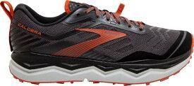 ブルックス メンズ スニーカー シューズ Brooks Men's Caldera 4 Trail Running Shoes Grey/Black