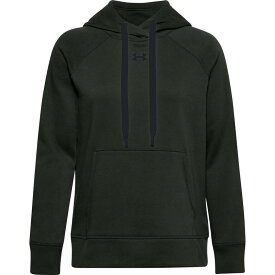 アンダーアーマー レディース パーカー・スウェット アウター Under Armour Women's Rival Fleece Pullover Hoodie (Regular and Plus) Baroque Green/Black