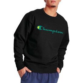 チャンピオン メンズ パーカー・スウェット アウター Champion Men's Powerblend Graphic Crewneck Sweatshirt Black