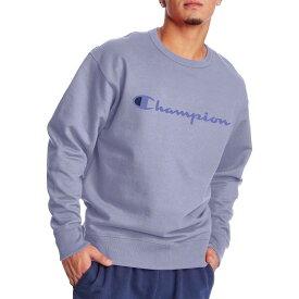 チャンピオン メンズ パーカー・スウェット アウター Champion Men's Powerblend Graphic Crewneck Sweatshirt Land Ice