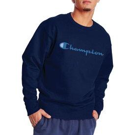 チャンピオン メンズ パーカー・スウェット アウター Champion Men's Powerblend Graphic Crewneck Sweatshirt Navy