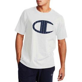 チャンピオン メンズ シャツ トップス Champion Men's Classic Graphic Script Big C T-Shirt White