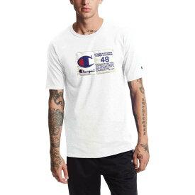 チャンピオン メンズ シャツ トップス Champion Men's Heritage Jock Tag T-Shirt White