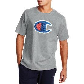 チャンピオン メンズ シャツ トップス Champion Men's Classic Graphic C Patch T-Shirt Oxford Grey