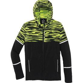 ブルックス メンズ ジャケット・ブルゾン アウター Brooks Men's Nightlife Jacket Black / Nightlife Blur