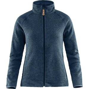 フェールラーベン レディース ニット・セーター アウター Fjallraven Women's Ovik Fleece Zip Sweater Navy