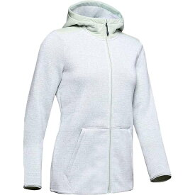 アンダーアーマー レディース パーカー・スウェット アウター Under Armour Women's Wintersweet 2.0 Hoodie Atlas Green Fade Heather / Onyx White