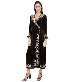 ジョニーワズ レディース ワンピース トップス Erith Velvet Kimono Wrap Dress Macchiato