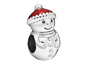 パンドラ レディース ネックレス・チョーカー・ペンダントトップ アクセサリー Passions Snowman & Christmas Hat Enamel Charm Red