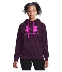 アンダーアーマー レディース パーカー・スウェット アウター Rival Fleece Logo Hoodie Polaris Purple/