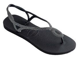 ハワイアナス レディース サンダル シューズ Luna Premium Flip-Flop Black/Dark Grey