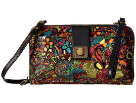 サックルーツ レディース ハンドバッグ バッグ Artist Circle Large Smartphone Crossbody Rainbow Spirit Desert
