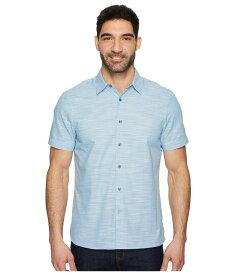 ペリーエリス メンズ シャツ トップス Short Sleeve Solid Slub Texture Shirt Ink