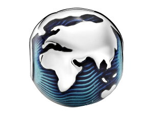 パンドラ レディース ネックレス・チョーカー・ペンダントトップ アクセサリー Globe Clip Charm Blue