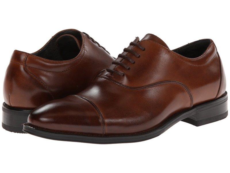 ステイシーアダムス メンズ スリッポン・ローファー シューズ Kordell Cognac Leather