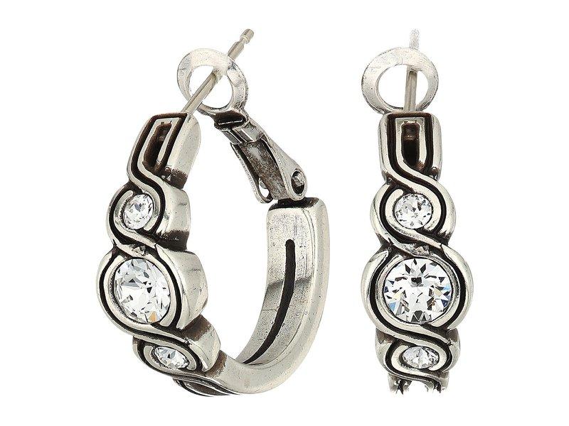 ブライトン レディース ピアス・イヤリング アクセサリー Infinity Sparkle Hoop Earrings Silver/Crystal