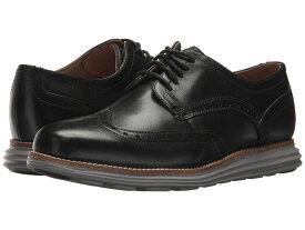 コールハーン メンズ スリッポン・ローファー シューズ Original Grand Shortwing Black Leather/Ironstone
