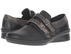 ナオト レディース スリッポン・ローファー シューズ Celesta Black Madras Leather/Oily Coal Nubuck/Vintage Gray Leather