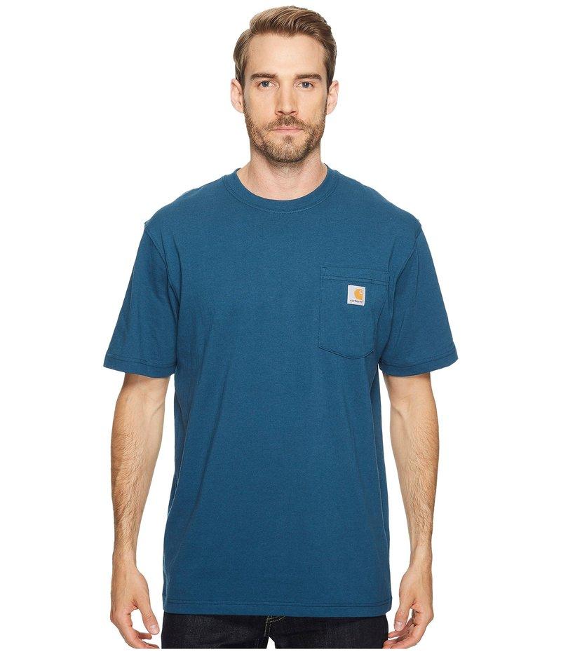 カーハート メンズ シャツ トップス Workwear Pocket S/S Tee K87 Stream Blue