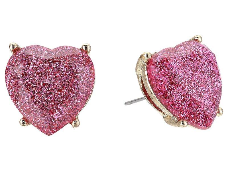 ベッツィジョンソン レディース ピアス・イヤリング アクセサリー Pink Sparkle Heart Stud Earrings Pink