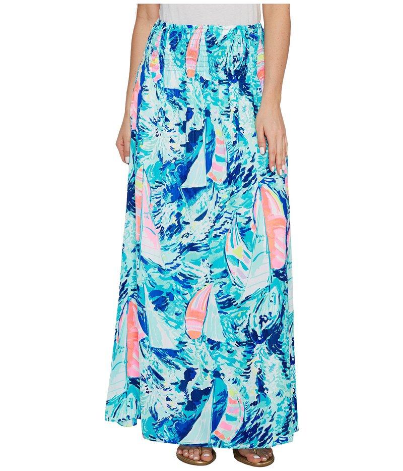 リリーピュリッツァー レディース スカート ボトムス Bohdi Maxi Skirt Sparkling Blue Hey Bay Bay