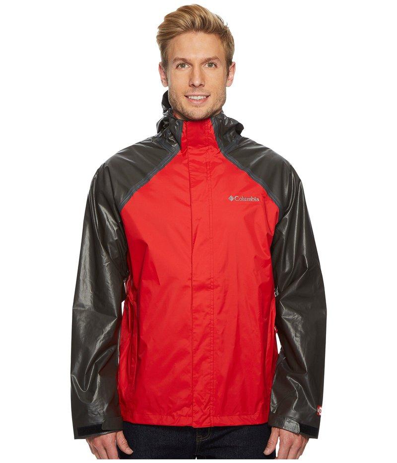 コロンビア メンズ コート アウター OutDry Hybrid Jacket Red Spark/Black