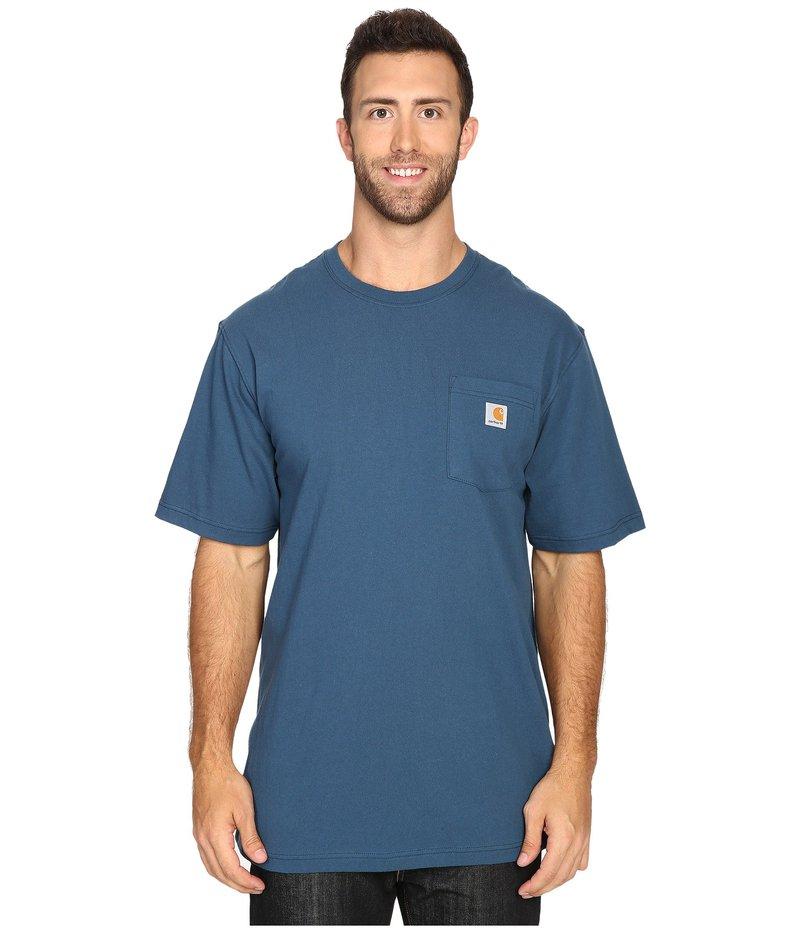 カーハート メンズ シャツ トップス Big & Tall Workwear Pocket S/S Tee Stream Blue