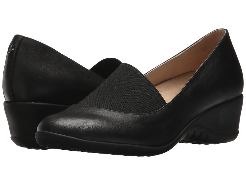 ハッシュパピー レディース ヒール シューズ Odell Elastic Pump Black Leather