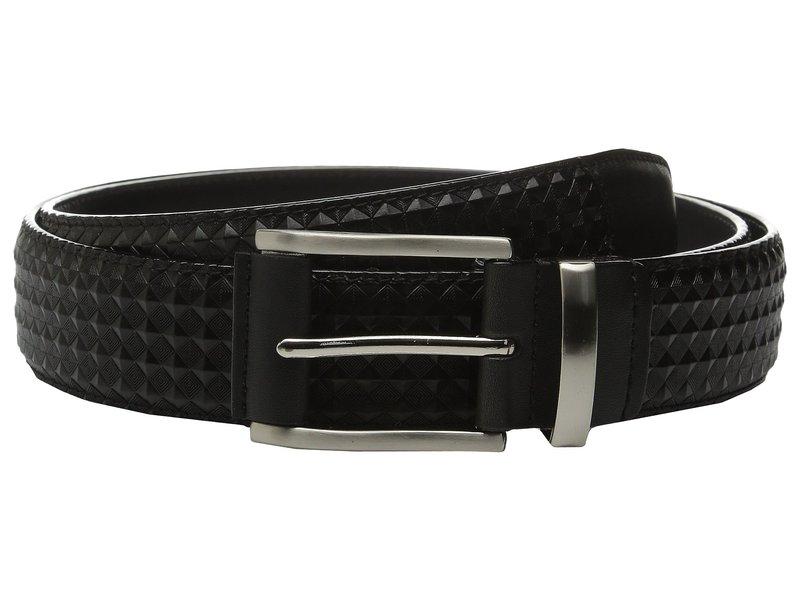 ステイシーアダムス メンズ ベルト アクセサリー Fidello 35mm Diamond Embossed Belt Black