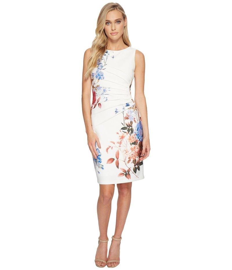 イヴァンカ・トランプ レディース ワンピース トップス Starburst Printed Sleeveless Dress Ivory/Multi