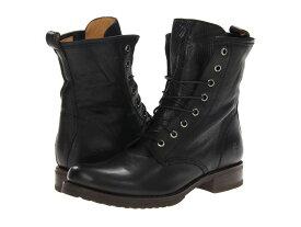フライ レディース ブーツ・レインブーツ シューズ Veronica Combat Black Soft Vintage Leather