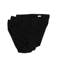 ジョッキー レディース パンツ アンダーウェア Elance French Cut 3-Pack Black/Black/Black