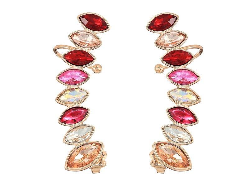 レベッカミンコフ レディース ピアス・イヤリング アクセサリー Stacked Sparkler Ear Climber Earrings Pink Multi/Rose Gold