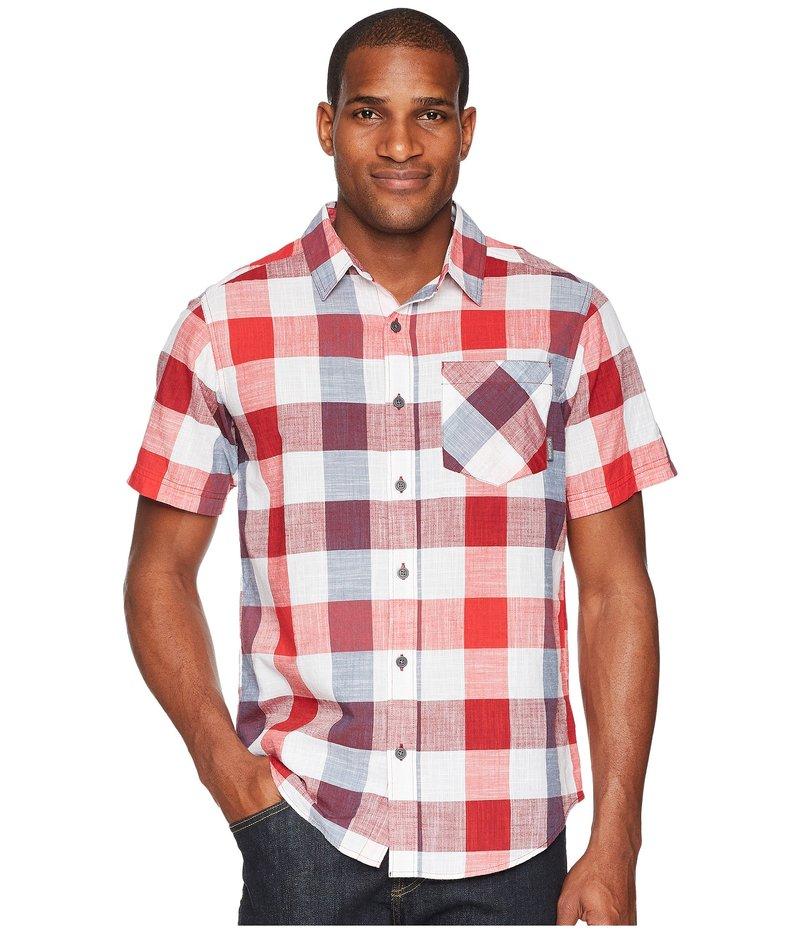 コロンビア メンズ シャツ トップス Katchor II S/S Shirt Red Spark Large Check