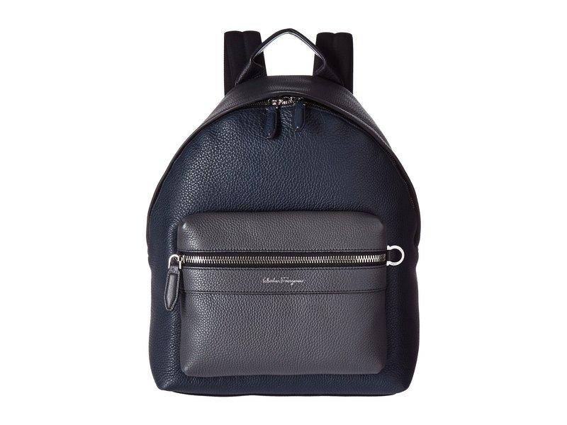 サルヴァトーレ フェラガモ メンズ バックパック・リュックサック バッグ Firenze Color Block Backpack Black/Lavagna