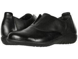 ナオト レディース スリッポン・ローファー シューズ Karo Black Madras Leather/Jet Black Leather