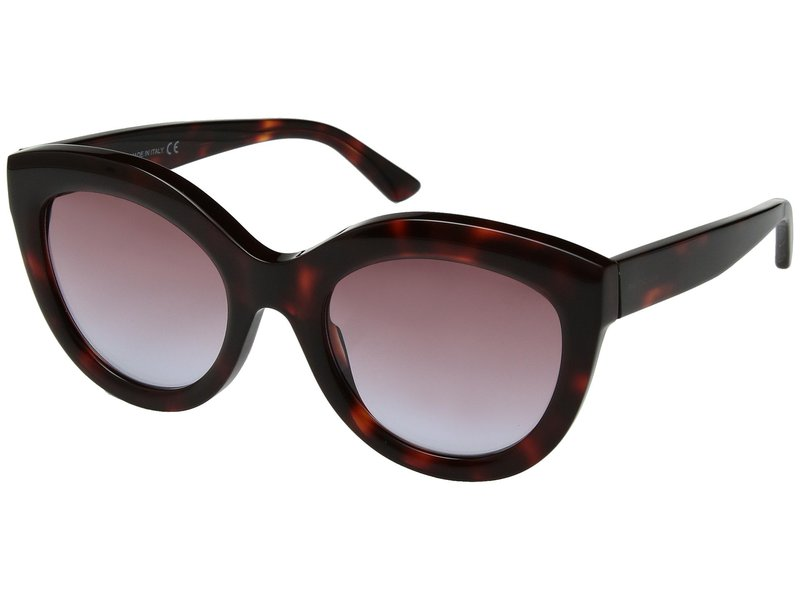 バレンシアガ レディース サングラス・アイウェア アクセサリー BA0133 Red Havana/Violet Gradient Lilac Lens