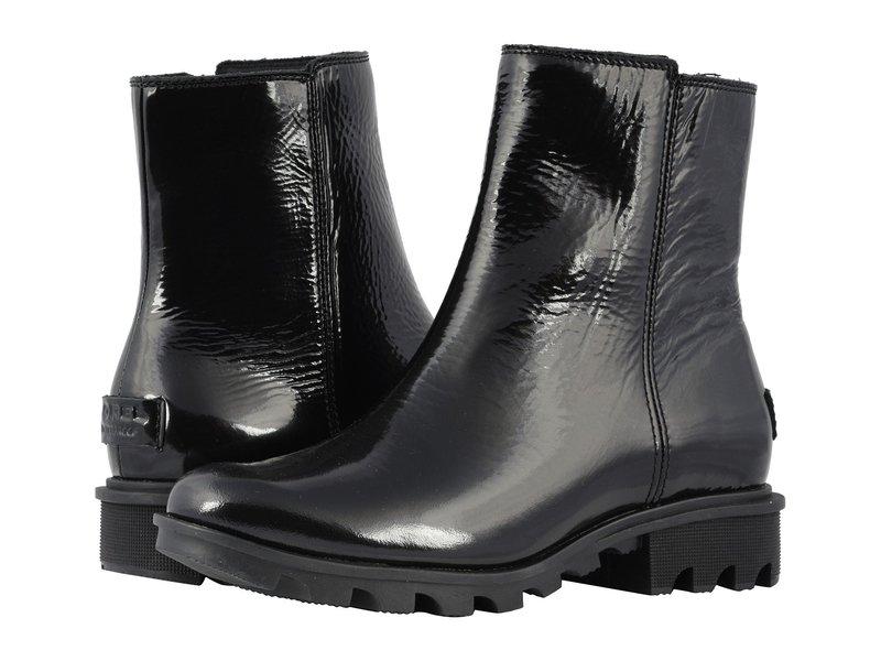 ソレル レディース ブーツ・レインブーツ シューズ Phoenix Zip Black Patent Leather