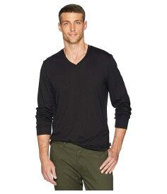 カルバンクライン メンズ シャツ トップス Long Sleeve Jersey V-Neck T-Shirt Black