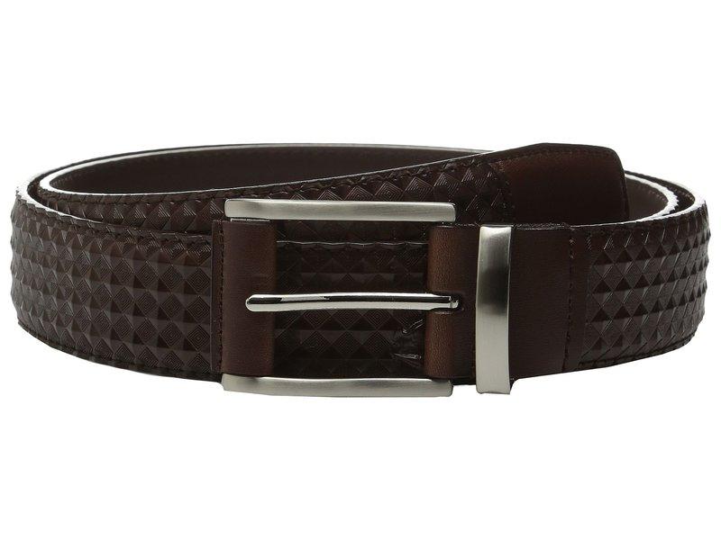 ステイシーアダムス メンズ ベルト アクセサリー Fidello 35mm Diamond Embossed Belt Brown