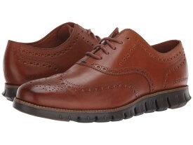 コールハーン メンズ オックスフォード シューズ Zerogrand Wingtip Oxford Leather British Tan Leather/Java