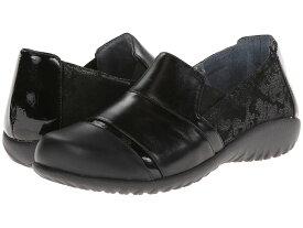ナオト レディース スリッポン・ローファー シューズ Miro Black Lace Nubuck/Metallic Road Leather/Black Madras Leather/Jet
