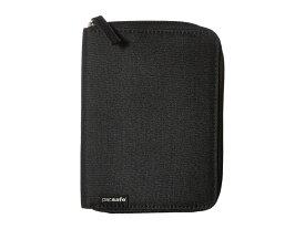 パックセーフ メンズ ボストンバッグ バッグ RFIDsafe LX150 RFID Blocking Zippered Passport Wallet Black