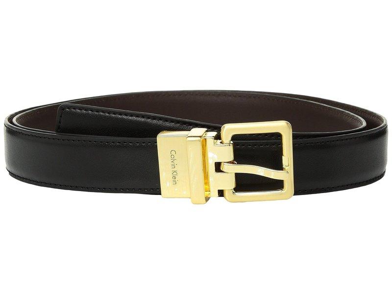 カルバンクライン レディース ベルト アクセサリー 25mm Reversible Smooth to Smooth Belt Black/Brown