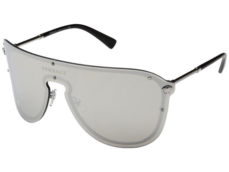 ヴェルサーチ レディース サングラス・アイウェア アクセサリー VE2180 Silver/Light Grey Mirror Silver